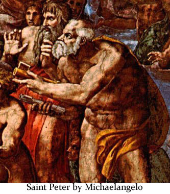 Saint Peter by Michelangelo